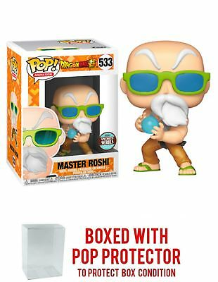 Funko Dragonball Super:Master Roshi SS + Bundled with Pop BOX PROTECTOR CASE