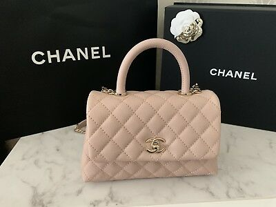 7c43a545c3e9 Chanel Coco Handle Mini 19SS Light Pink Nude Grained Calfskin GHW - NEW