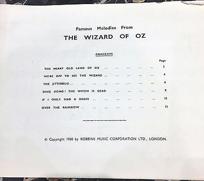 Famous melodies for the PIANO from  'THE WIZARD OF OZ' - ACCEPTABLE