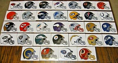 NEW NFL Helmet Stickers PICK ANY TEAM! Football Logo Decal Peel & Stick Paper