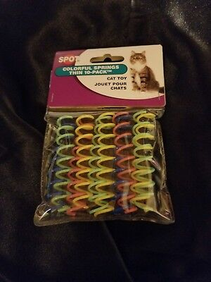 Spot Colorful Springs Thin Cat Toy 10 Pack