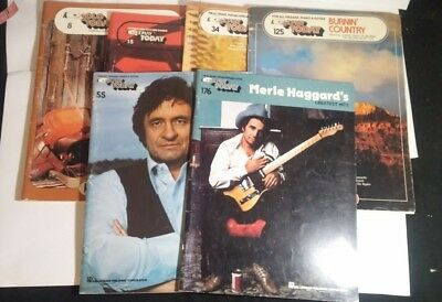 "Lot of 6 EZPlay Today ""Country Music"" # 8,15,34,55,125,176 Cash, Haggard, etc"