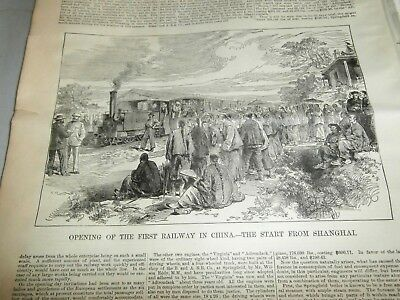 1876 Shanghai To Kungwang China Opening Of The First Railway In China