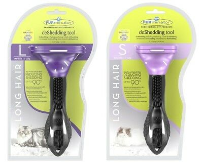 Genuine Furminator De-Shedding Tool: CAT - Large / Small Breed With LONG Hair
