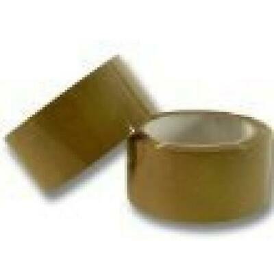 72 Rolls of Strong Buff Brown Packing Parcel Tape 48mm x 66M