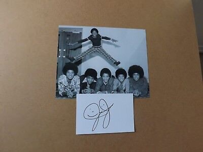 Jermaine Jackson 'The Jacksons' signed - COA
