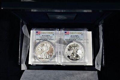 2013-W 2-Coin Silver American Eagle West Point Set Pcgs Pr70 Ms70 First Strike