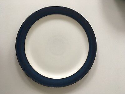 Denby tableware Boston Blue dinner plate 10.5 inch X2