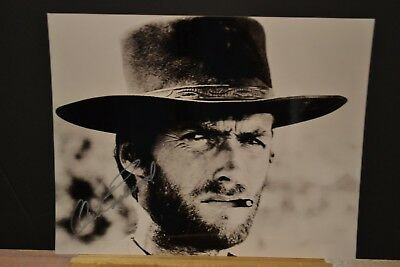 Autograph Original - Photo Dedicacee - Clint Eastwood - 20 X 25 - Western