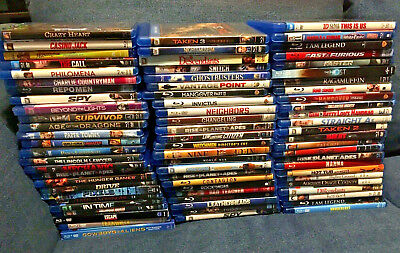 Very Nice Huge lot of 76 Blu Rays - New & Used - Thriller, Action, Comedy + More