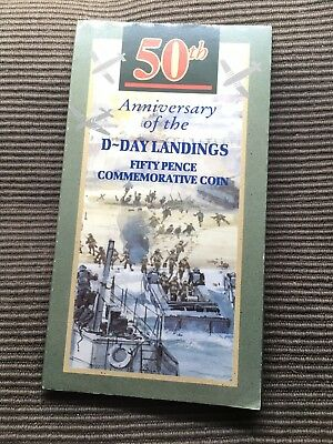 1994 D-Day Landings 50th Anniversary UNC 50p coin Royal Mint presentation pack
