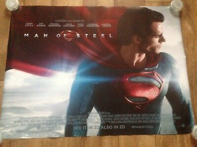 Man Of Steel UK Cinema Poster QUAD Rare Superman