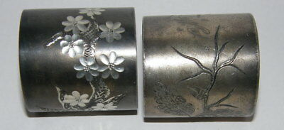 (2) Antique Silverplate Napkin Rings
