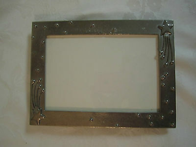 Exceptional Pewter Shooting Stars Photo Frame by Leon Fontier 1997 artist signed
