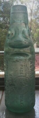 Eagle Pictorial Codd Marble Bottle Kalgoorlie Wa Eclipse Aerated Water & Ice Co