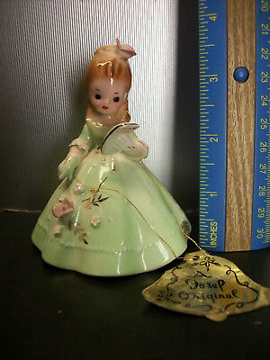 Vintage Josef Originals Dinner Belle Girl Bell Figurine Japan
