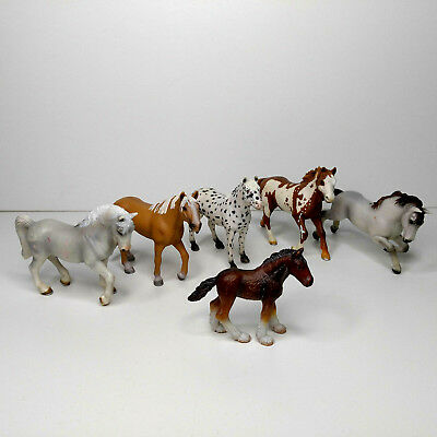 Lot Of 6 Schleich Horses Barely Used