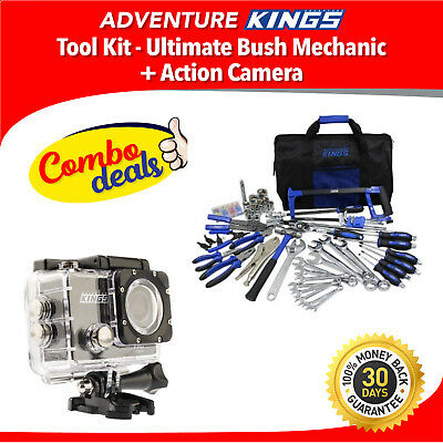 Adventure Kings Tool Kit - Ultimate Bush Mechanic + Action Camera