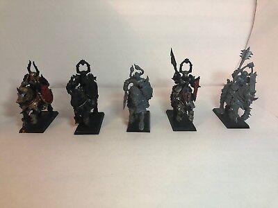 x5 Warhammer Age of Sigmar Chaos Knights Slave to Darkness Partially Painted