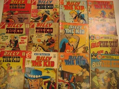 13 Dc Billy The Kid Comics Lot Silver/bronze .12 To .60 Charlton