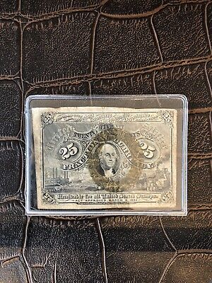 Fractional Currency 25 Cents Civil War -Era US Note Second Issue*