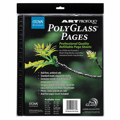 """Itoya ProFolio PolyGlass Pages 11""""x17"""" 10 sheets -"""
