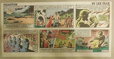 """(48) """"The Phantom"""" Sundays by Lee Falk from 1989 Near Complete Year ! Thirds/1/4"""