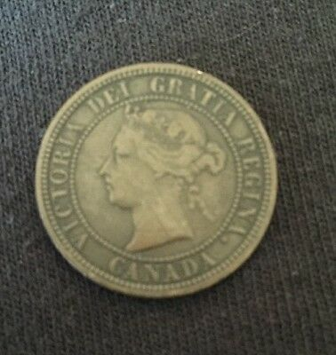 1876-H Canada Large Cent, Canadian. Penny, One Cent