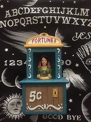 Carnival Boardwalk Fortune Teller Light Up Display Figure Dept 56 Lemax Size 5in