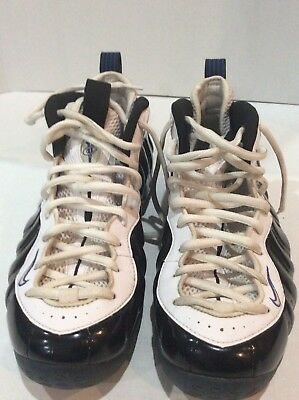 d61f986eb73e2 Nike Air Foamposite One Concord Black White Game Royal 314996-005 Size 9