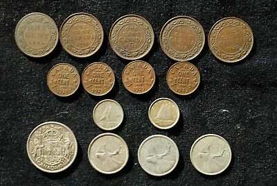 15 Early Date Silver and Copper Coins from Canada