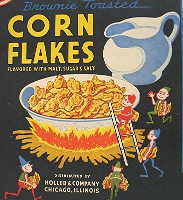Vintage part of Corn Flakes Box with Brownie's