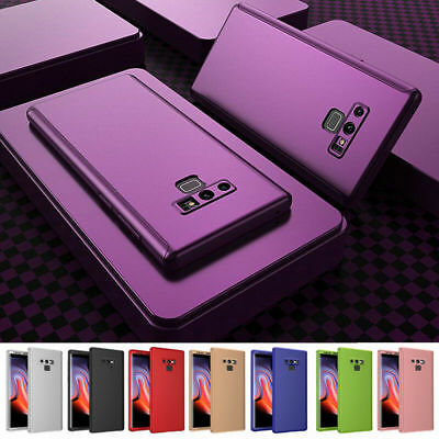 360 Full Protection+Tempered Glass Case Cover for Samsung Galaxy Note 9/S9+/S8