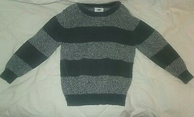 Old Navy Youth Boys Sweater, Dark& Light Grey Striped. Size Small (6-7)