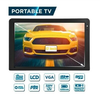Leadstar D12 12 Inch Portable HD TV DVB-T2 DTV ATV TFT HDMI USB 15 Languages