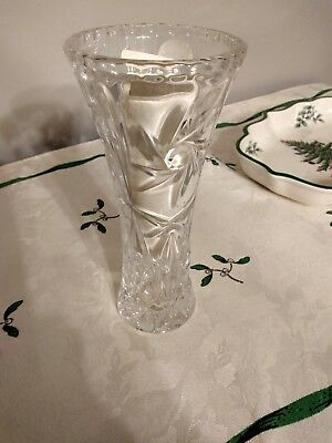 """1- Lenox crystal small bud vase 6"""" original sticker intact with paperwork."""