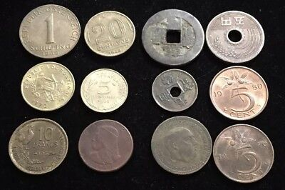 Twelve Assorted Foreign Coins Lot Wc12