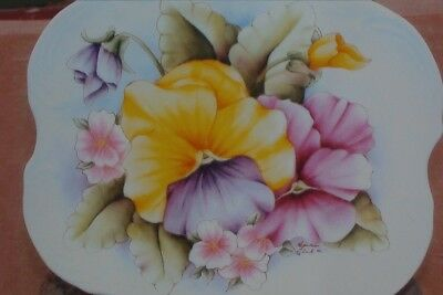 """Amelia Fleck tole painting pattern """"Pansies and Pinks"""""""