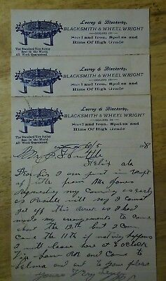Lecroy & Blackerby Blacksmith & Wheel Wright Columbia Alabama  1908 Letterhead 3