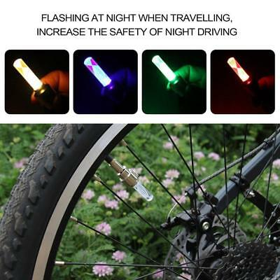 le pneu 2pcs vélo roue de bicyclette valve pac multi - couleur led EH
