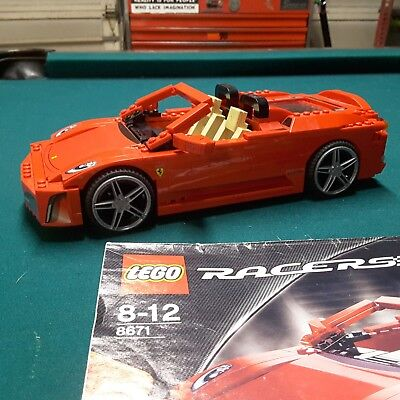 LEGO FERRARI RACERS F430 Spider 1 17 8671 With Manual And Extras
