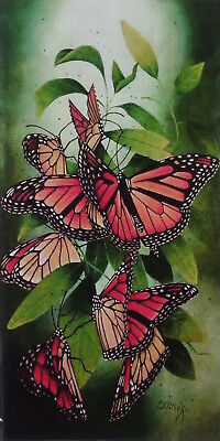 """Dorothy Whisenhunt tole painting pattern """"Monarch Butterflies - Headin South"""""""