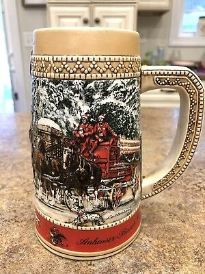 Budweiser Holiday Clydesdales C Series Collector Stein Handcrafted in Brazil