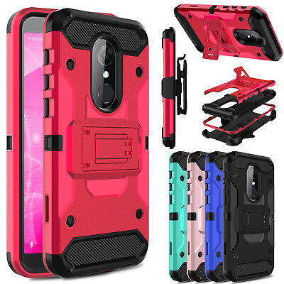 For T-Mobile Revvl 2/ Alcatel 3 With Kickstand Belt Clip Shockproof Case Cover