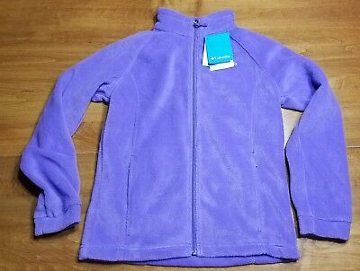 5414b779bf68 NEW COLUMBIA BENTON Springs Full Zip Fleece Purple 18 24 Baby Girls ...
