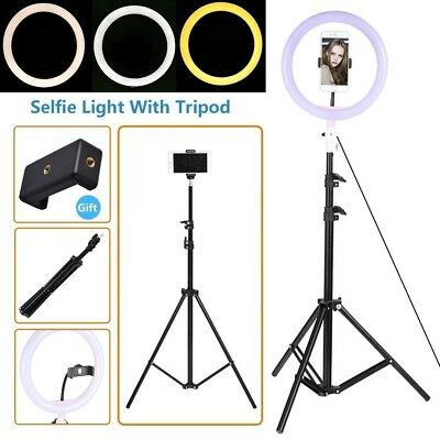 LED Ring Light with Stand 5600K Dimmable LED Lighting Kit Makeup Youtube Live X1