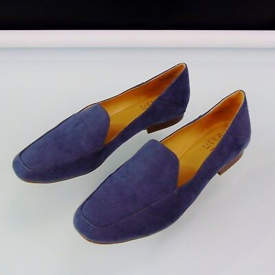 da2f172643e NATURALIZER LOAFERS KATE Sz 7.5 M Paris Blue Driving Comfort Shoes ...