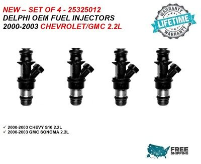 Set 4 OEM Fuel Injector 17114610 For Chevrolet /& GMC S10 Sonoma 2.2L 2000-2003