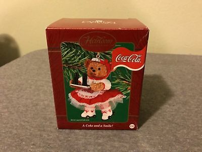 Brand New Heirloom Carlton Cards Coca-Cola Girl Server 2005 A Coke and a Smile!