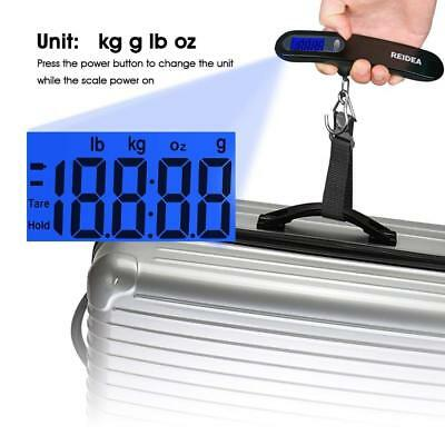 Reidea Portable Travel Tare 110lb LCD Hanging Digital Suitcase Luggage Scale
